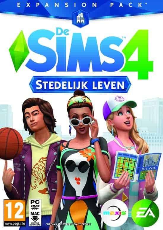 Sims 4 stedelijk leven logo