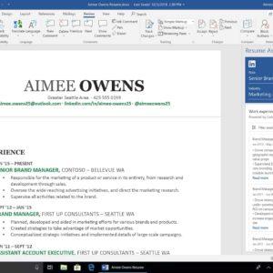Office 2019 voorbeeld Word