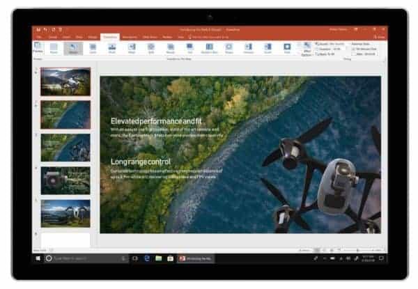 Office 2019 voorbeeld PowerPoint